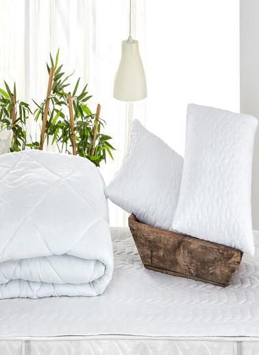 Komfort Home Çift Kişilik Microfiber Yorgan+Yastık+Alez-140x200 CM Renkli
